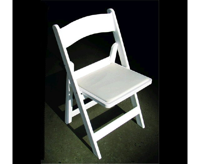 Chair White Resin With Pad Rentals Raleigh Nc Where To