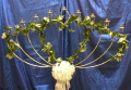 Where to rent BRASS 9 LITE HEART FAN CANDELABRA in Raleigh NC