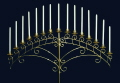 Where to rent BRASS 15 LITE FAN CANDELABRA in Raleigh NC
