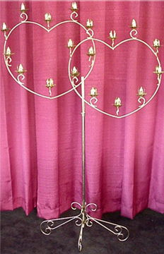 Where to find BRASS DOUBLE HEART CANDELABRA in Raleigh