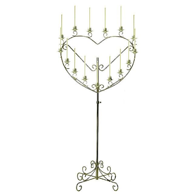 Where to find BRASS SINGLE HEART CANDELABRA in Raleigh