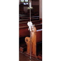Where to rent BRASS 1 LITE PEW MARKER CANDELABRA in Raleigh NC
