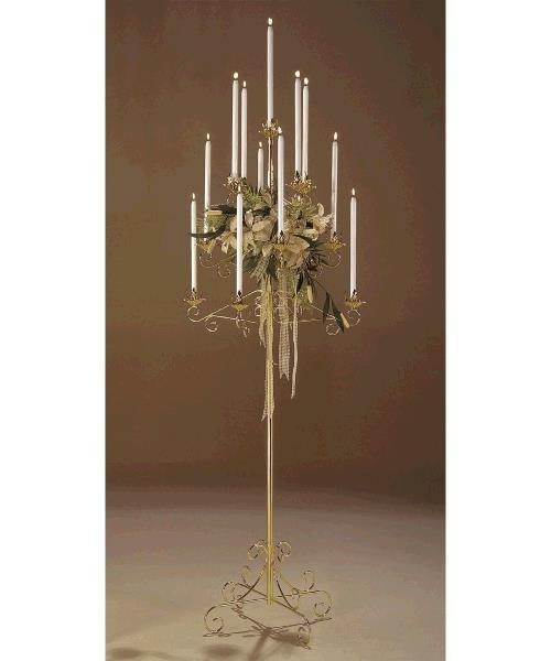 Where to find BRASS 13 LITE TREE CANDELABRA in Raleigh