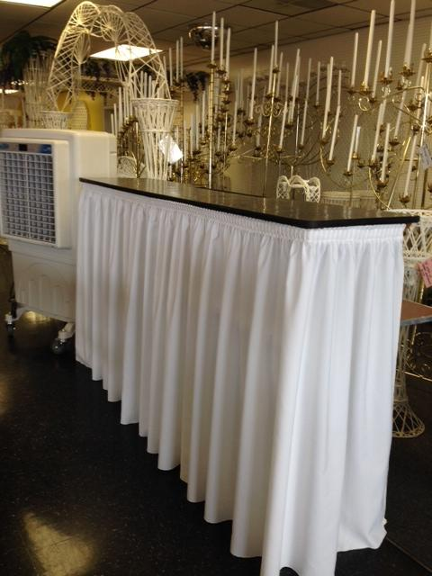 Where to find 6  BAR TOP   TABLE WITH SKIRT in Raleigh