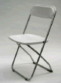 Where to rent CHAIR WHITE ALUMINUM in Raleigh NC
