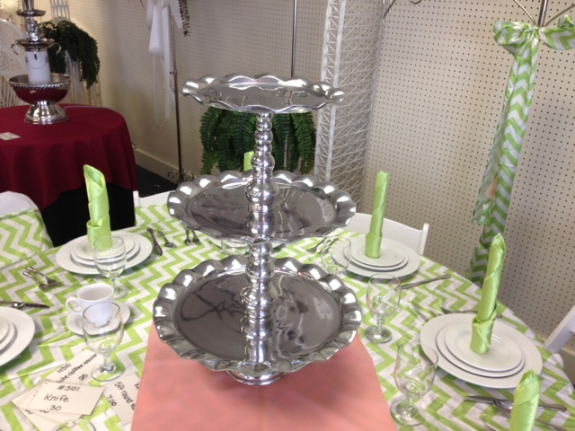 Where to find CUPCAKE DESSERT STAND 3 TIER ALUMINUM in Raleigh