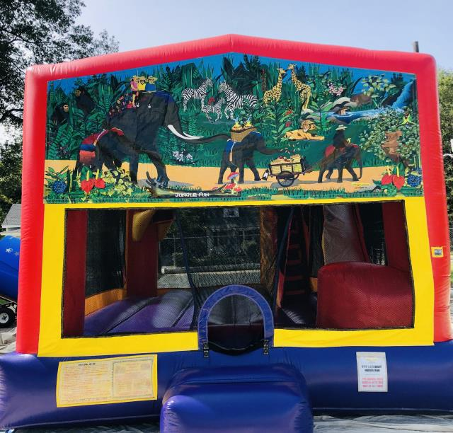 Where to find JUNGLE WET DRY SLIDE BOUNCER COMBO in Raleigh