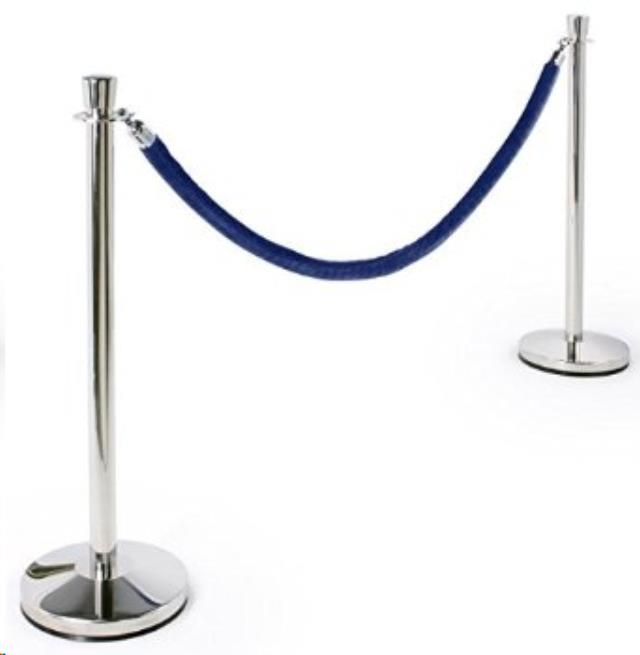 8 Foot Black Velour Stanchion Rope Rentals Raleigh Nc