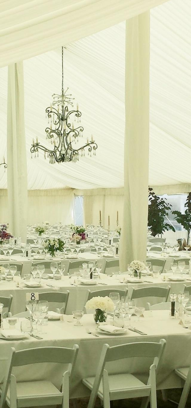 Where to find WHITE DRAPE FOR 18  CENTER TENT POLE in Raleigh