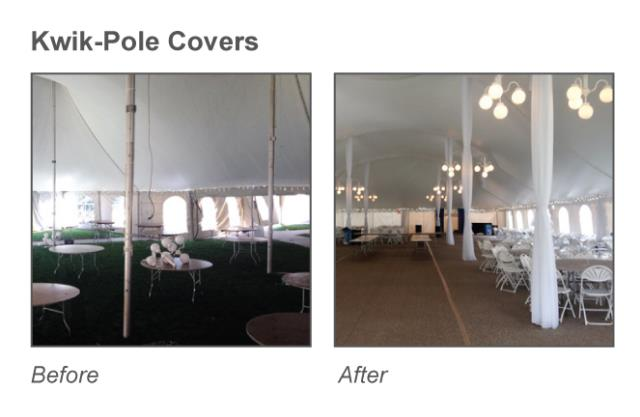 Where to find KWIK-COVERS CENTER TENT POLE COVERS in Raleigh