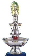 Where to rent 10 GAL SILVER BEVERAGE FOUNTAIN in Raleigh NC