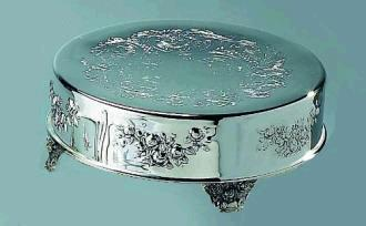 Where to find CAKE STAND 18  ROUND SILVER in Raleigh